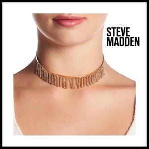 STEVE MADDEN GOLD BOHO FRINGE CHAIN CHOKER A2C